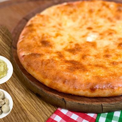 Пирог Осетинский с картофелем и грибами