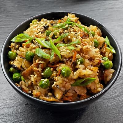Тяхан (рис жареный) с овощами