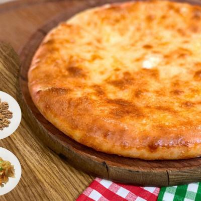 Осетинский Пирог с жареной капустой и грецким орехом
